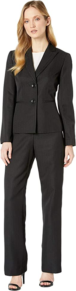 Two-Button Peak Lapel Collar Pants Suit