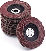Premium High Density Calcined Aluminum Oxide Flap Disc (320 Grit) 10Pcs For Angle Grinder