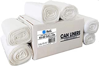 Reli. SuperValue 55 Gallon Trash Bags (150 Count Bulk), Made in USA - Clear Trash Bags Heavy Duty 55 Gallon - 60 Gallon - ...