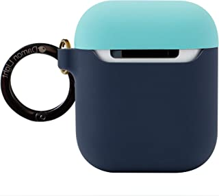 DamonLight Premium Silicone Airpods Case with Carabiner {with no Hinge}Full Protective Cover Skin Compatible with Apple Ai...