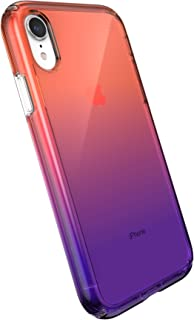 Speck Products Presidio Perfect-Clear Ombre Case, Compatible with iPhone XR, Clear/Sunset Fade (136262-9125)