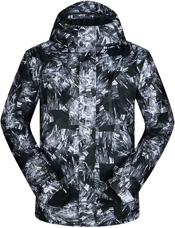 ChenBing-tow wasserdichte Bergjacke für Herren Warmer Wintermantel Atmungsaktive verstellbare Kapuze und Manschetten wasserdichte Jacke - Für kaltes Wetter Winddichte warme Mehrfachtaschen