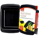 Rapid Ramen Cooker - Microwave Ramen in 3 Minutes - BPA Free and Dishwasher Safe - Black