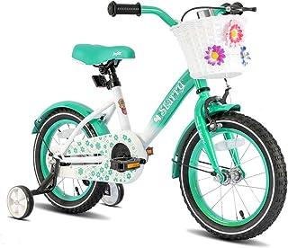 "JOYSTAR Paris Girl's Bike for Ages 3-9 Years Old, Children Bike with Training Wheels for 12"" 14"" 16"" Kid's Bike, Kickstand..."