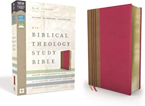 NIV, Biblical Theology Study Bible, Leathersoft, Pink/Brown, Thumb Indexed, Comfort Print: Follow God's Redemptive Plan as It Unfolds throughout Scripture