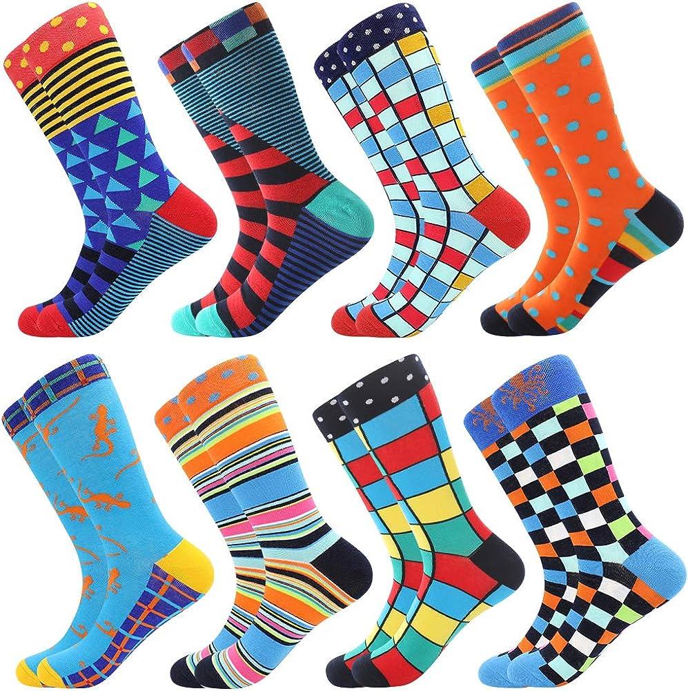 Bonangel Fun Socks Funny for Dress Crazy Novelty Long-awaited Men Crew quality assurance