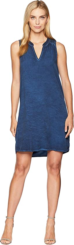 Sailor Wash On Rylie Rayon Sleeveless V-Neck Dress