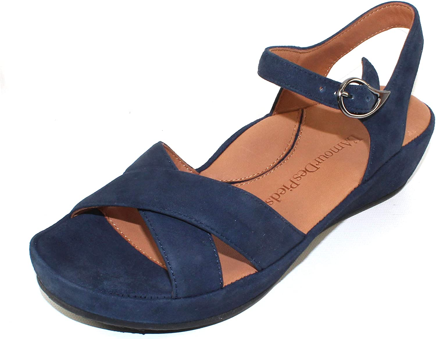 Lamour Des Pieds Women's Casimiro in Navy Kid Suede - Size 11 M