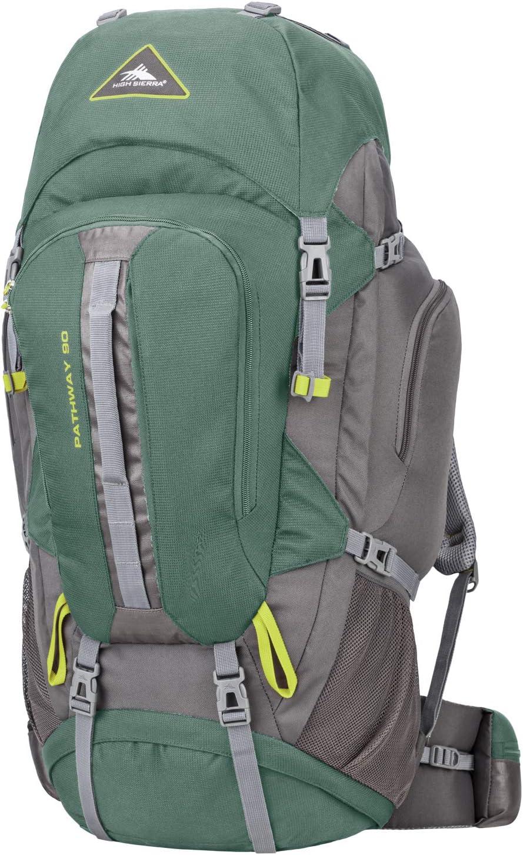 High Sierra Pathway Internal Frame Hiking Backpack, Pine/Slate/Chartreuse, 90L : Sports & Outdoors