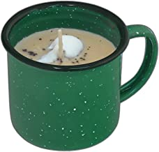 Swan Creek 8 Ounce Bourbon Maple Sugar 100% American Soybean Wax Candle in a Coffee Mug