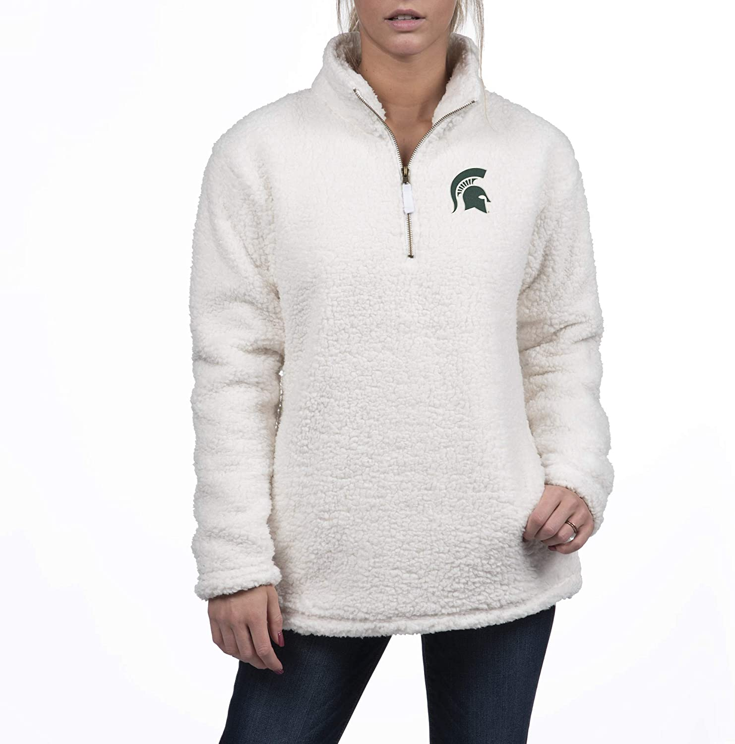 New Shipping Free Shipping Top of the World Portland Mall Womens Cozy 1 Sherpa Zip 2 Pullover