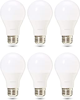 AmazonBasics Commercial Grade LED Light Bulb | 60-Watt Equivalent, A19, Soft White, Dimmable, 6-Pack
