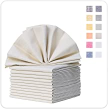 MILLANDON Dinner Napkins Cloth Set of 12, 20x20 Inches, 100% Cotton Yarn-Dyed Large Napkins Soft Table Linens for Everyday...
