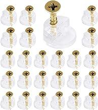 150 stks Glas Retainer Klem Kit, Glas Standoff, Spiegel Clip voor Kabinet Deuren Garderobe met 150 Bevestigingsschroeven, ...
