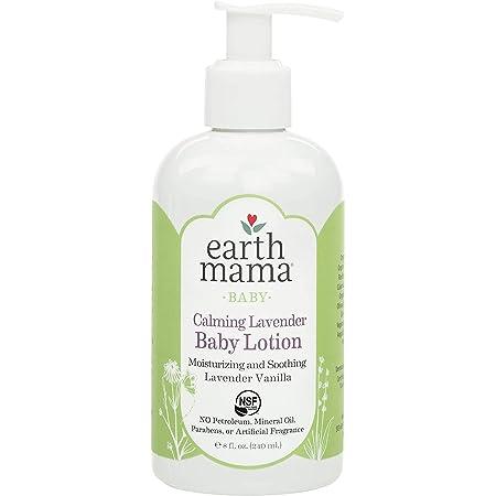 Earth Mama Calming Lavender Baby Lotion with Organic Calendula, 8 Fl Oz