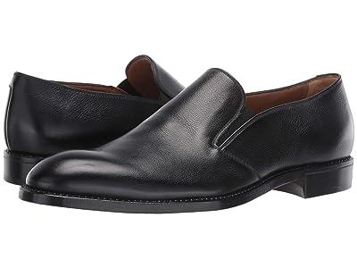 Gravati Plain Toe Loafer (Black) Men