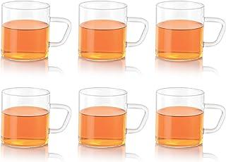 Borosil CLASSIC GLASS MUG SET 190 ml SET OF 6, clear, VCSM190, BV430112098, 4 ounce cups