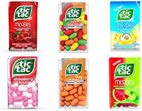 Tic Tac Fruit Flavors Variety Gift Box – Orange, Strawberry Fields, Pina Colada, Fruit Adventure, Watermelon Lime, and Cherry Cola