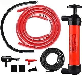 DEDC Kit de Bomba Extractora de Aceite Bomba Manual de Coche para Inflar Extraer Gasolina Líquido Aceite Diésel Agua Máquina de Césped Desbrozadora Cortasetos Pelotas Neumáticos
