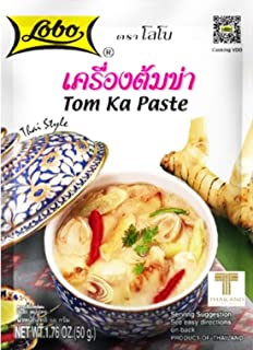 Lobo Envelope Packet Thai Paste, Tom Ka, 1.76 Ounce (Pack of 3)