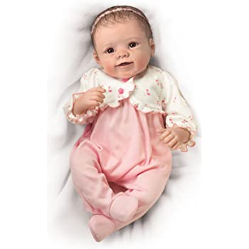 The Ashton-Drake Galleries 'Sadie' Newborn Baby Girl Doll- Interactive And Realistic Reborn Baby Doll So Truly Real® Baby Doll Breathes, Hear Her Coo, And Even Feel Her Heart Beat