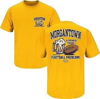 Smack Apparel West Virginia Football Fans. Morgantown Drinking Town Gold T-Shirt (Sm-5X)