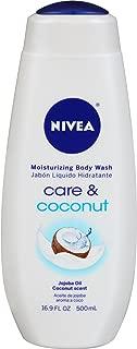 NIVEA Care & Coconut Moisturizing Body Wash - Tropical Scent for Normal Skin - 16.9 fl. oz. Bottle