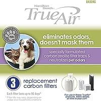 Hamilton Beach TrueAir 04234G Replacement Carbon Filter 3 Pack