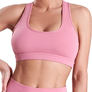 Abrithy Womens Sports Bras, Racerback Sport Bra with Removable Cups for Running Fitness Yoga