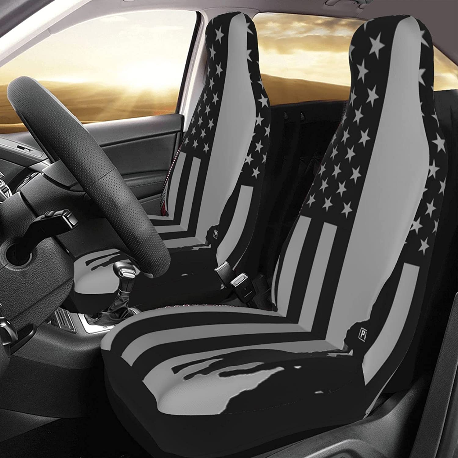 Universal Car Seat Covers Limited time for free shipping Police Dog American Line Sea 4 years warranty Blue Flag