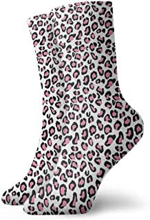 Calcetines deportivos con rayas rojas y negras, calcetines unisex a media pierna