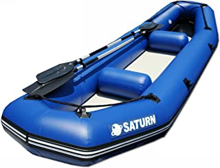 Saturn 12 ft Inflatable River Fishing Raft / Ducky Boat - Blue
