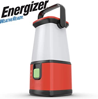 Energizer Camping Lantern Flashlight, Battery Powered LED Lanterns for Camping, Outdoors, Hurricane, Emergency Use, 500 Lumens Water Resistant Camping Light