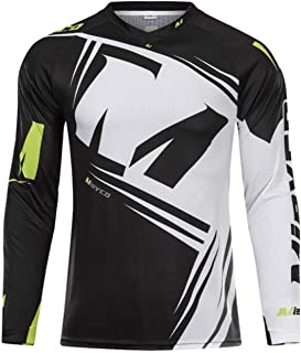 Men Long Sleeve Downhill Jersey Mountain Bike Clothing Quick Dry Running Clothes Cycling Jacket Off Road T Shirt Sports We...