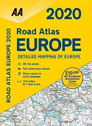 Road Atlas Europe 2020