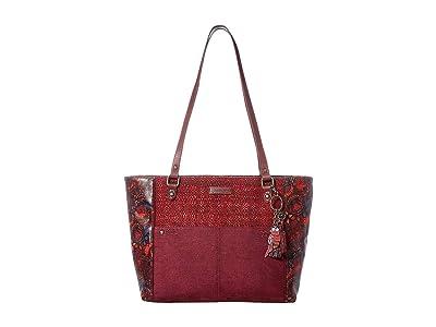 Sakroots Metro Satchel (Cabernet Spirit Desert) Satchel Handbags