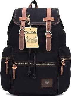 Vintage Casual Canvas Leather Backpack Rucksack Travel Bookbag Satchel