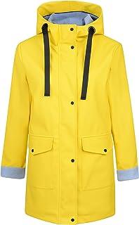 Charcoal Fashion Capa impermeable de goma resistente al agua (05JS18 amarillo)