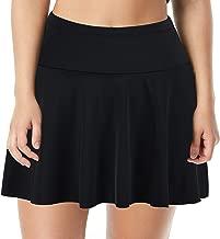 Septangle Women's High Waist Swim Skirt Tummy Control Swimwear Bikini Bottom