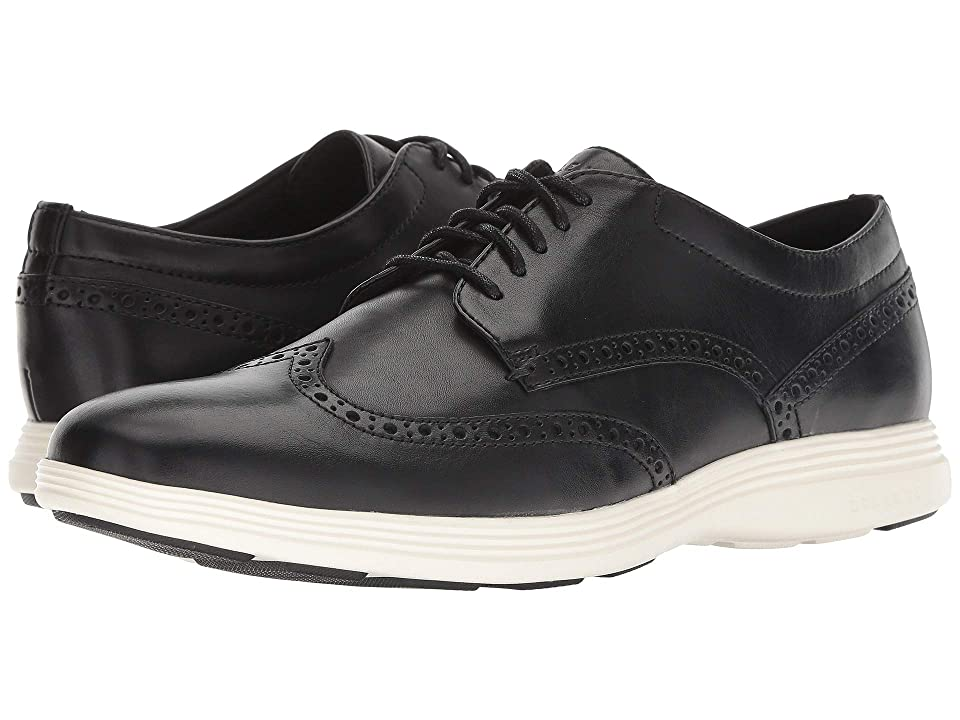 Cole Haan Grand Tour Wing Ox (Black Leather/Ivory) Men
