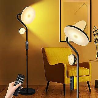 KINGLEAD Lampadaire sur Pied Salon,27W+7W Lampadaire LED Dimmable,4 Températures de Couleur,Contrôle Tactile & Télécommand...