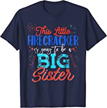 Big Sister 4th of July Pregnancy Announcement Shirt