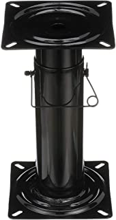 Best Attwood 91320-ADJ Swivl-Eze Adjustable Pedestal, Height Adjustable 11 ½-17 ½ Inches, For Boat Seat, Black Powder Coated Review
