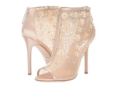 Badgley Mischka Isadora (Soft Nude Satin/Mesh) High Heels