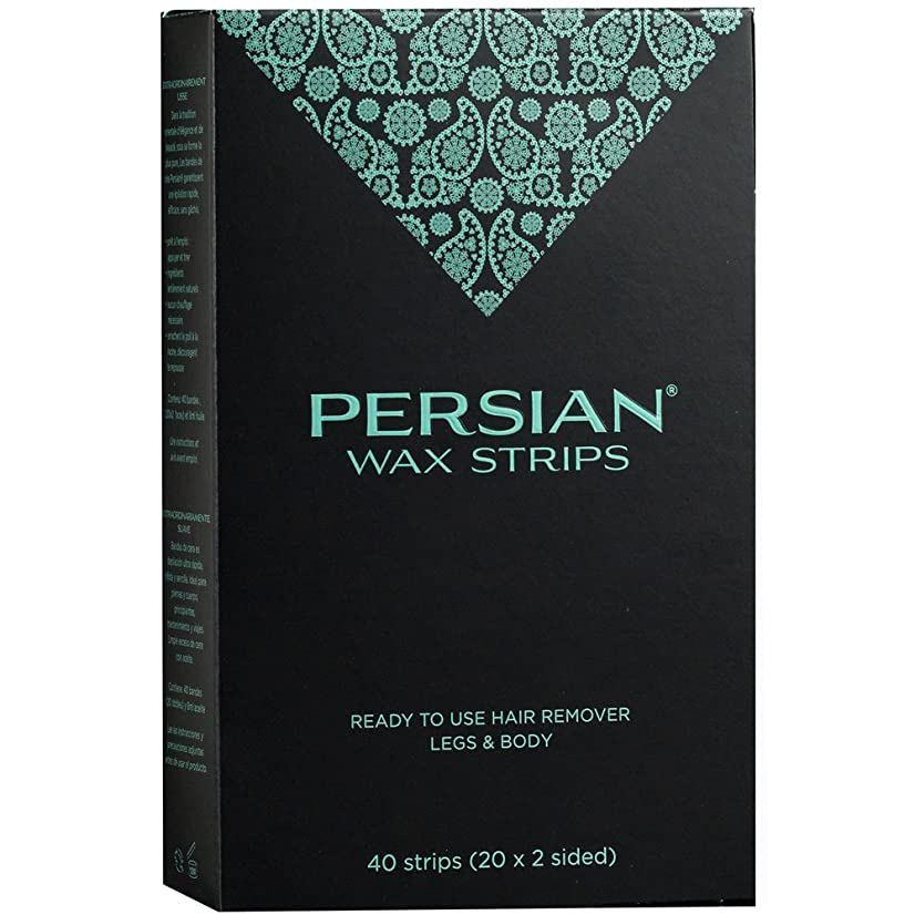 Persian Wax Strips Legs & Body for Instant Hair Removal (40Count)