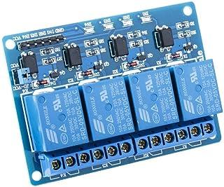 SeeKool Módulo Relé de 4 Channel DC 5V acoplador óptico adecuado para Arduino UNO R3 Kit MEGA 2560 Proyecto 1280 DSP ARM P...