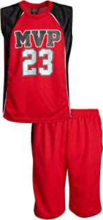Mad Game Boys' 2-Piece Basketball Athletic Tank Top and Shorts Set