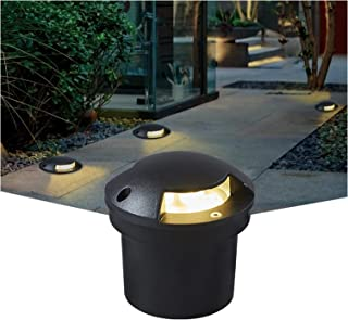 CHHD LED Underground Light Garden Round Landscape Lamp IP67 Waterproof Ground Lighting, For Outdoor, Driveway, Pathway, Pa...