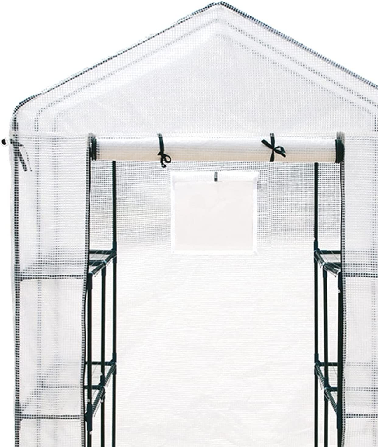 PPLAS Guanario de jardín al Aire Libre 3 Capas Grandes Caminatas Invernadero con Marco de Acero EDUCACIÓN FÍSICA Cubierta de Tela de Malla guardería ventilada Caliente (Size : Single Grid)