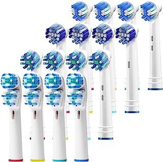 سر قلم موهای جایگزین Oral B- بسته تعطیلات 16 عدد مسواک برقی سازگار با Oralb Braun - Fras Oral-B Kids ، Pro 1000 بیشتر!